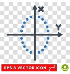 Ellipse Plot Eps Icon vector