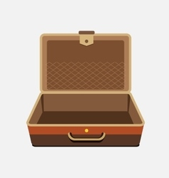 empty suitcase for summer holiday vector image