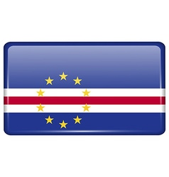 Flags Cape Verde in the form of a magnet on vector image