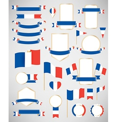 France flag decoration elements vector image