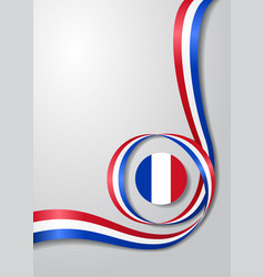 French flag wavy background vector