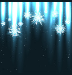 glowing snow falls from above vector image