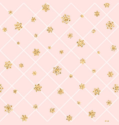 Gold snowflake christmas background vector