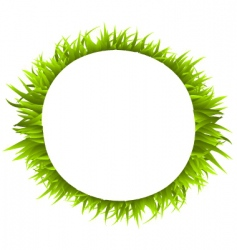 grass ring vector image