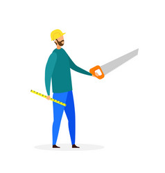 handyman with instruments flat vector image