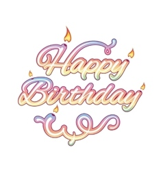 Happy birthday isolated text vector