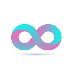 Infinity logo symbol loop icon infinite 8 mobius vector