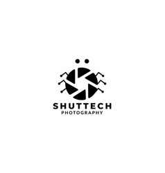 Insect and shutter lens camera photography logo vector