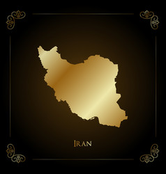 Iran golden map vector