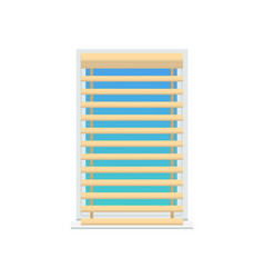 Jalousie set on window color vector