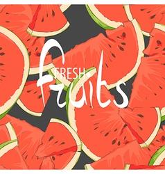 Juicy slices of watermelon vector image
