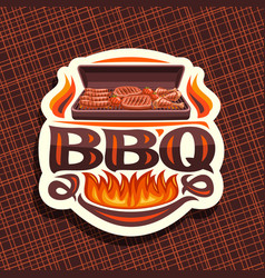 logo for bbq vector image