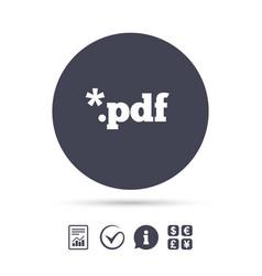 Pdf file document icon download pdf button vector