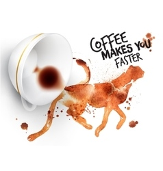 Poster wild coffee guepard vector image