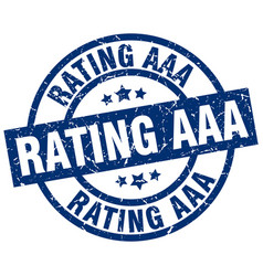 rating aaa blue round grunge stamp vector image