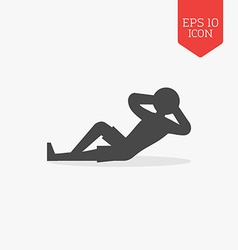 Relaxing man icon Flat design gray color symbol vector image