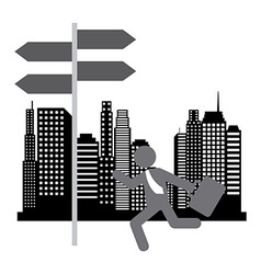 running businessman design vector image