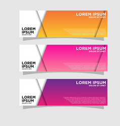 Set three abstract bannersmodern template vector