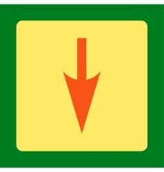 Sharp Down Arrow flat orange and yellow colors vector