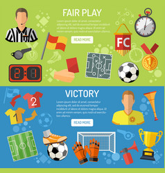 soccer horizontal banners vector image vector image