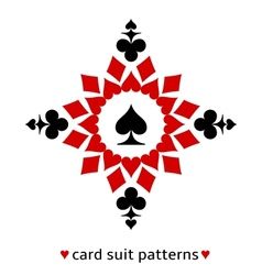 Spade card suit snowflake vector image