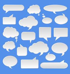 speech bubble dialog talk tag vector image