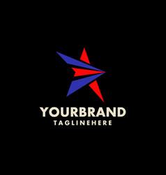 star logo design branding corporate identity vector image