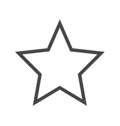 star thin line icon vector image