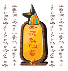 Stone board clay tablet and egyptian hieroglyphs vector