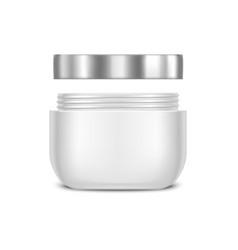 Template Blank White Cream Jar vector image