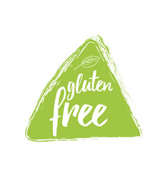 Typographic phrase gluten free green vector