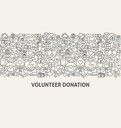Volunteer donation banner concept vector