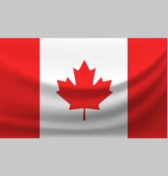 waving national flag of canada vector image
