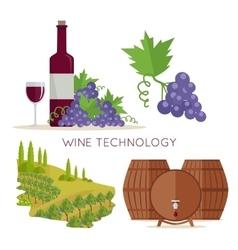 Wine Technology Bottle of Vine Beaker Vineyard vector