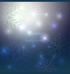 Winter background christmas and new year card vector