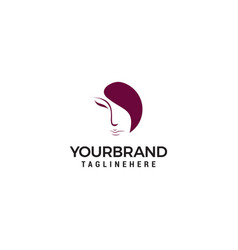 Women face logo on white background vector