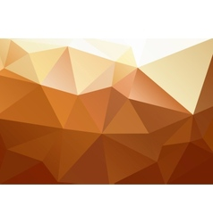 Yellow orange brown abstract background polygon vector image