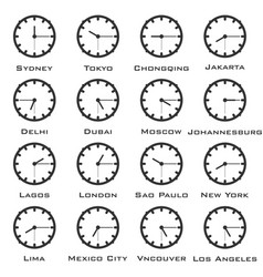 a minimalistic image of the clock with the time vector image