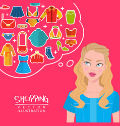 fashion and shopping vector image