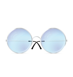Glasses with round lenses vector image vector image