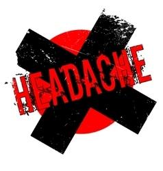 Headache rubber stamp vector image