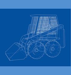 mini loader vector image