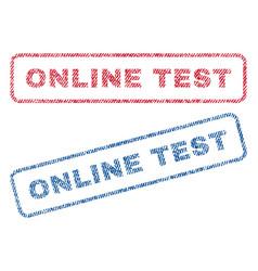online test textile stamps vector image vector image