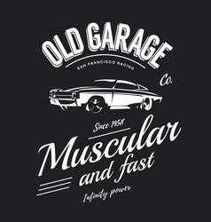 vintage muscle car logo vector image