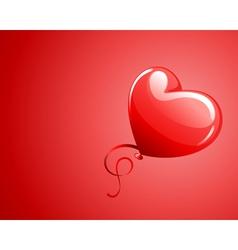 heart as balloon with ribbon vector image vector image