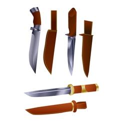 hunting knives vector image vector image
