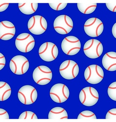 Baseball pattern vector image