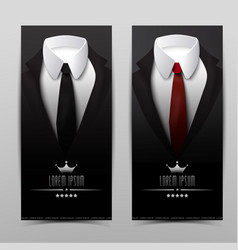 business suit vertical banners vector image vector image