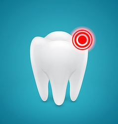 Danger zone on the human teeth vector image vector image