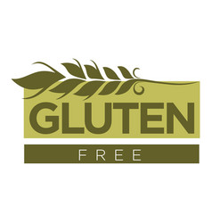 gluten free substance in cereal grains logo design vector image vector image